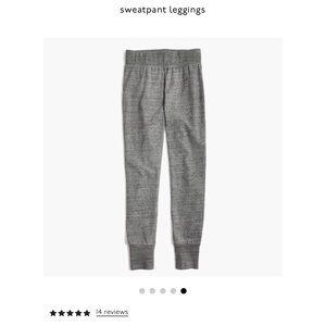 madewell sweatpant leggings